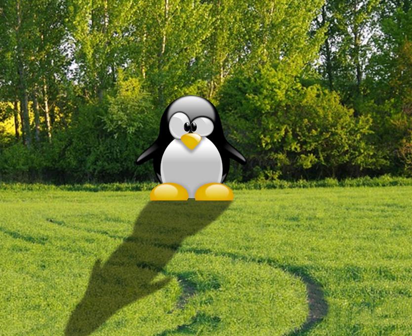 crear sombras sobre siluetas con GIMP 3