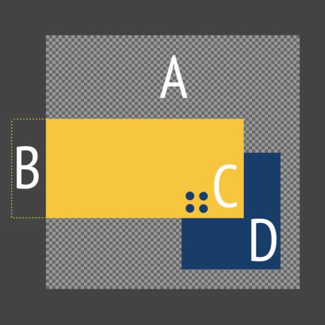 El lienzo y las capas en GIMP
