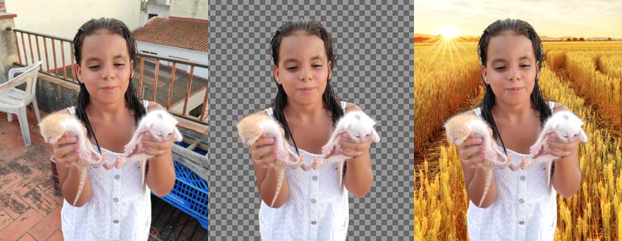Eliminar el fondo de una imagen. Objeto con fondo transparente