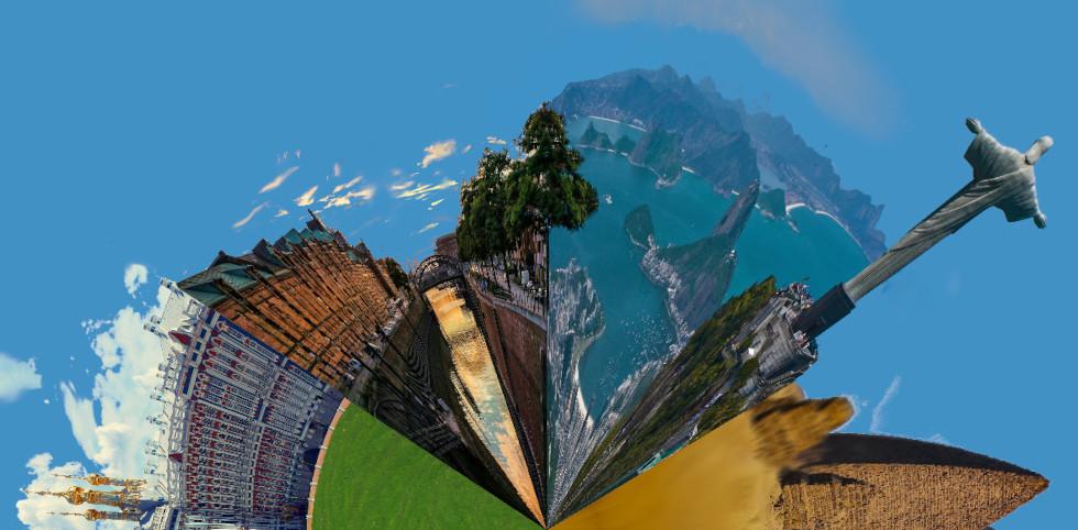 Collage de fotografías en GIMP fantasia circular 4