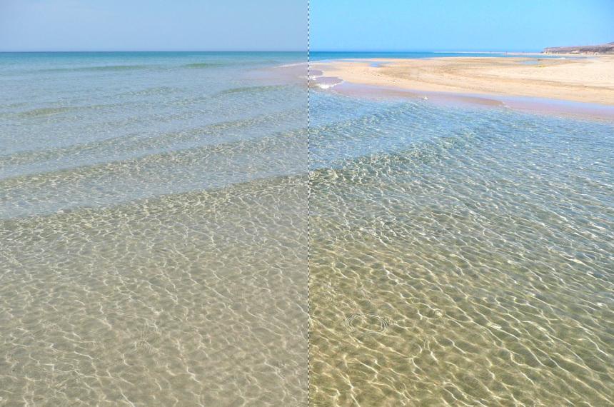 Reparación de fotografía con GIMP, Aplicación de brillo y contraste